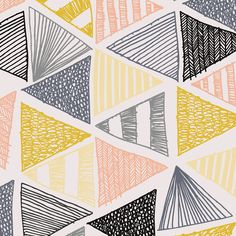 Summer School 2014 Showcase: Sarah Bowskill Make It In Design Design Textile, Design Floral, Fabric Design, Boho Pattern, Pattern Art, Pattern Painting, Geometric Designs, Geometric Shapes, Geometric Pattern Design
