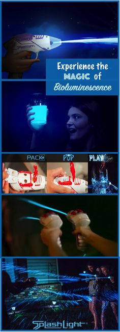 SplashLight - blasts glowing water using natural bioluminescence