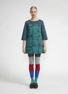 Marimekko, Fall, 2013. I could never wear this shape, but darn it if Marimekko prints don't melt  my butter every time.