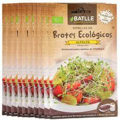 Semillas de alfalfa ecológica para germinar - Loveat!© - #We_Loveat - Semillas para germinar. Pack de 10 sobres. #We_Loveat