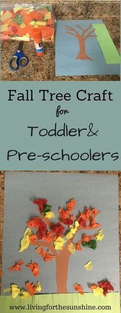 Fall Tree Craft für Kinder im Vorschulalter - Toddler crafts - dekoration Fall Crafts For Toddlers, Kids Crafts, Fall Activities For Kids, Quick Crafts, Spanish Activities, Gifts For Toddlers, Fall Activities For Preschoolers, Toddler Arts And Crafts, Children Activities