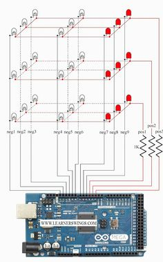 sliding pattern in 3*3*3 led cube using arduino mega, simple and beautiful sliding pattern in an LED cube using arduino mega, how to make a sliding pattern in led cube easily