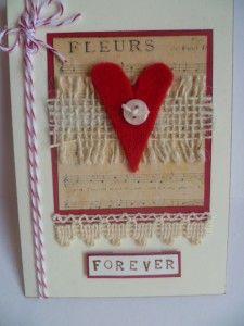 Card with felt heart