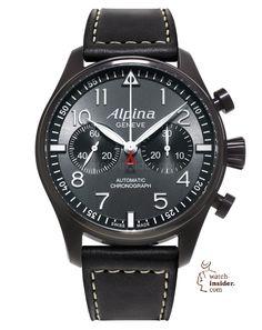 "Pre-Baselworld 2014. First Alpina novelties. The Startimer Automatic Chronograph ""Black Star"". Swiss professional pilot watch."