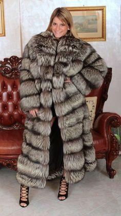 SILVER FOX FUR COAT SILBERFUCHS PELZMANTEL FOURRURE RENARD PELLICCIA VOLPE mex