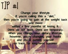 not a diet a lifestyle change