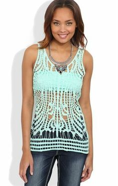 Deb Shops  Front Tank Top with Solid Back $16.03