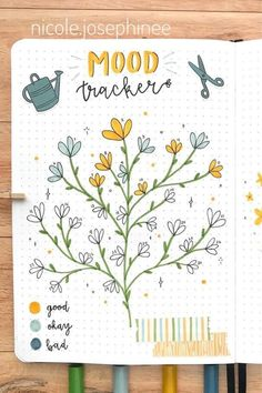 20 Adorable April Mood Tracker Ideas For Your Bujo - Crazy Laura - - Starting a new month in your bullet journal and need some theme ideas? Check out these adorable April mood tracker examples for inspiration! Bullet Journal Tracker Ideas, Bullet Journal Mood Tracker Ideas, April Bullet Journal, Bullet Journal Cover Ideas, Bullet Journal Notebook, Bullet Journal Spread, Bullet Journal Layout, Bullet Journal First Page, Bullet Journal For School