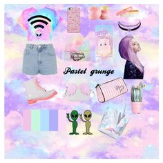 A fashion look from July 2015 featuring tie-dye shirts, short shorts and lace up boots. Browse and shop related looks. Pastel Grunge, Shoe Bag, Baby, Stuff To Buy, Shopping, Collection, Design, Women