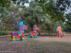 Las Pinatas by David Goujon - this TEMPO 2015 installation was nominated for an Austin Critics Table Award! photo by Philip Rogers #atxpublicart