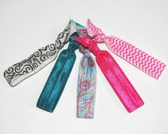 Peacock Collection hair ties