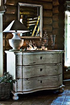 Eric, we should do this paint finish on your black dresser like this one...