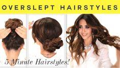 3 Overslept #Hairstyles | 5 Minute #Curls & Cute #Braided Bun #Hair
