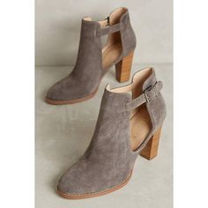 Candela Colorblock Shooties (295 CAD) ❤ liked on Polyvore featuring shoes, boots, ankle booties, navy, grey ankle boots, bootie boots, color block boots, grey ankle booties and ankle boots