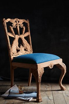 Handcarved Menagerie Rabbit Dining Chair #anthropologie