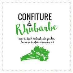 étiquette Graphique et Design pour pot à confiture de rhubarbe