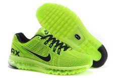 Nouveau Nike Air Max 2013 Vert Noir Femme Chaussures