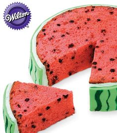 YUM! How cute & delicious does this slice of watermelon cake from @Wilton Cake Decorating Cake Decorating Cake Decorating Cake Decorating Cake Decorating look?