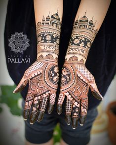 If you are looking for bridal mehndi designs for your wedding, then check out these top 30 mehandi images for some inspiration. Right from a simple mehndi design to an elaborate bridal henna design, you'll find it in here! Latest Bridal Mehndi Designs, Full Hand Mehndi Designs, Indian Mehndi Designs, Modern Mehndi Designs, Mehndi Designs For Fingers, Wedding Mehndi Designs, Mehndi Design Pictures, Beautiful Henna Designs, Mehndi Images