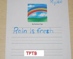 Spring Weather and the 5 Senses for Preschool and Kindergarten - maybe give each student a different picture and have them write about it?