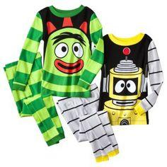 Yo Gabba Gabba 4 PC Short Sleeve Tight Fit Pajama Set Boy Size 6