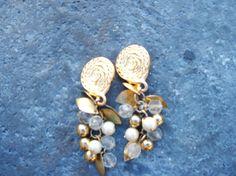 Earrings Liz Clairborne Vintage Dangle Hippie by blessedvintage #ecochic #vintagegiftideas #vintagedesignerjewelry