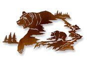 Laser Cut Metal Wall Art with Bear