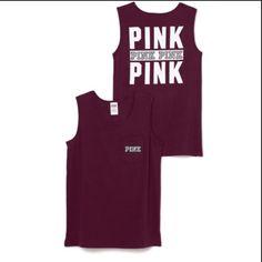 NEW Victoria's Secret campus tank! Never worn maroon campus tank PINK Victoria's Secret Tops Tank Tops