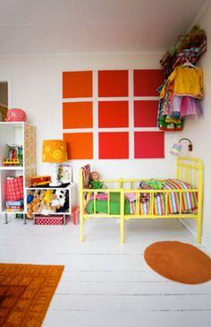 Farveblok som vægdekoration