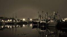 Gloucester Harbor, pre-dawn
