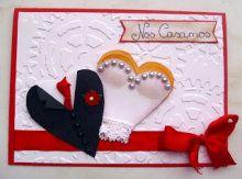 tarjetas de bodas hechas a mano - Buscar con Google Wedding Cards, Wedding Invitations, Invites, Scrapbook, Christmas Ornaments, Holiday Decor, Party, Google, Youtube