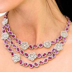 Avakian_official @thejewelleryed_ Pink sapphires and diamonds the Avakian way. Are you a fan? @avakian_official #diamond #jewelry #pinksapphire #jewellery #luxury #fashion