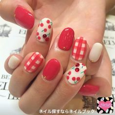 Gel manicure designs summer sparkle 15 ideas for 2019 Gel Manicure Designs, Diy Nail Designs, Nail Manicure, Fruit Nail Designs, Nails Design, Cherry Nails, Gem Nails, Kawaii Nails, Japanese Nails
