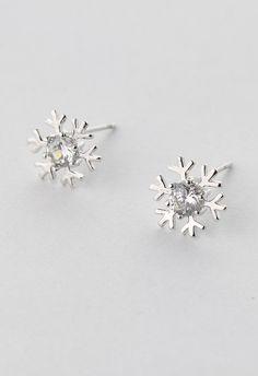 Snowflake Crystal Earrings//