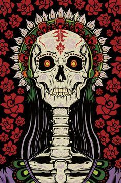 La Catrina by Castro Illustrates, via Behance