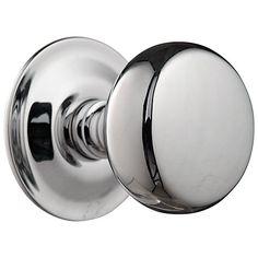 Buy John Lewis Groove Stem Mortice Knobs, Polished Chrome, Pair, Dia.54mm Online at johnlewis.com
