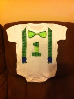 Personalised homemade 1st birthday vest.