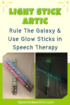 Rule The Galaxy (and use glow sticks!) to increase engagement with students with speech sound errors. This fun and creative articulation activity will sure spark some engagement with your Star Wars and sci-fi fan students! Contains various speech sounds including L, S, R, CH, SH, and more.  - Speech is Beautiful #articulation #articulationactivities #creativespeechtherapy #speechactivities