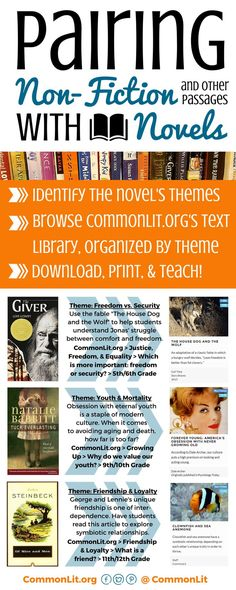 Looking for FREE informational texts, short stories, poems, or historical… Middle School Reading, Middle School English, Student Reading, Teaching Reading, Learning, Teaching Ideas, College Teaching, Guided Reading, Teaching Tools