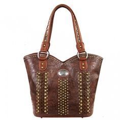 Montana West Concealed Carry Collection Floral Stitching Handbag