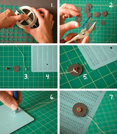How to make your own button & string closure by Erinzam #bookbinding http:/