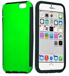 """myLife Electric Green {Hybrid Silicone Design} 2 Layer Hybrid Case for the NEW iPhone 6 (6G) 6th Generation Phone by Apple, 4.7"""" Screen Version (Single External Fitted Hard Protector Shell + Full Body Internal Silicone EASY-Grip Bumper Gel Protection) myLife Brand Products http://www.amazon.com/dp/B00NJ3NKES/ref=cm_sw_r_pi_dp_amfpub1MF2WXD"""