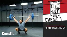 CrossFit Liftoff: Event 1–Snatch Crossfit Lifts, Crossfit Games, Healthy Foods, Exercise, Drinks, Fitness, Sports, Women, Ejercicio