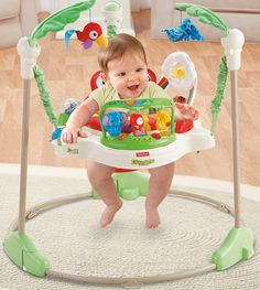 Fisher-Price Rainforest Jumperoo NEW baby bouncer activity center play jumping Fisher Price, Play Doh, Baby Activity Jumper, Activity Toys, Activities, Nerf, Baby Jumper, Baby Bouncer, Mattel