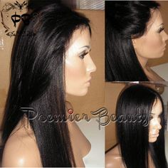 Free shipping human hair wigs 100% remy brazilian human hair lace wigs natural black Light Yaki lace front wig bleached knots with baby hair by PREMIERBEAUTY on Etsy https://www.etsy.com/listing/186273050/free-shipping-human-hair-wigs-100-remy