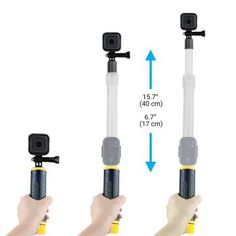 Kaliou 2018 Hot New Transparent Waterproof Telescopic Monopod Selfie Stick with Remote Control Connector for GoPro 6 5 4 3 2 1 - Borena Gopro 6, Gopro Hero 4, Telescopic Pole, Dji Osmo, Selfie Stick, Telescope, Wifi, Remote, Black Silver