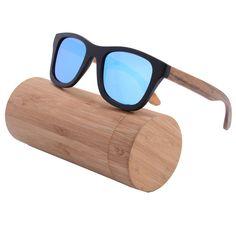 c128e95945 Hot Sale Ice Blue Coating Glasses High End Ebony Wood Frame Pear Legs  Polarized Revo Sunglasses