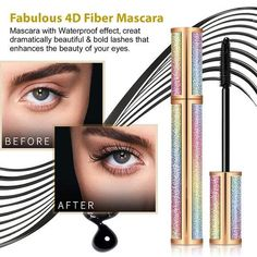 I'd previously bought a fibre lash mascara from a different well known company, however they are nowhere near as amazing as this product. A few sweeps of the magnifying gel and already my lashes looked gr. Tubing Mascara, Fiber Lash Mascara, Fiber Lashes, Volume Mascara, Fibre Gel, Hair Braider, Faux Lashes, Lengthening Mascara, Molde