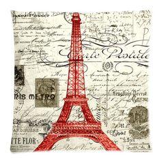 Vintage Red Paris Eiffel Tower Art Throw Pillow Case Zippered Cushion Cover Home Sofa Decorative 18 X 18 Inch (Twin Sides) Paris Eiffel Tower Pillow Case http://www.amazon.com/dp/B00VNKZOLQ/ref=cm_sw_r_pi_dp_hLscxb097KKF7