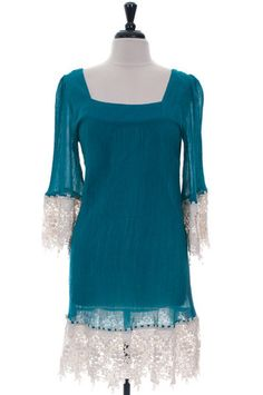 Lace & Gauze Dress (Plus Size) | Southern Grace Outfitters http://southerngraceoutfitters.com/products/lace-gauze-dress